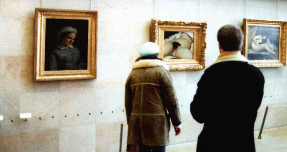 """Gustave Courbet's """"The origin of the world"""" at the Musee d'Orsay, photo: Wikimedia Commons."""