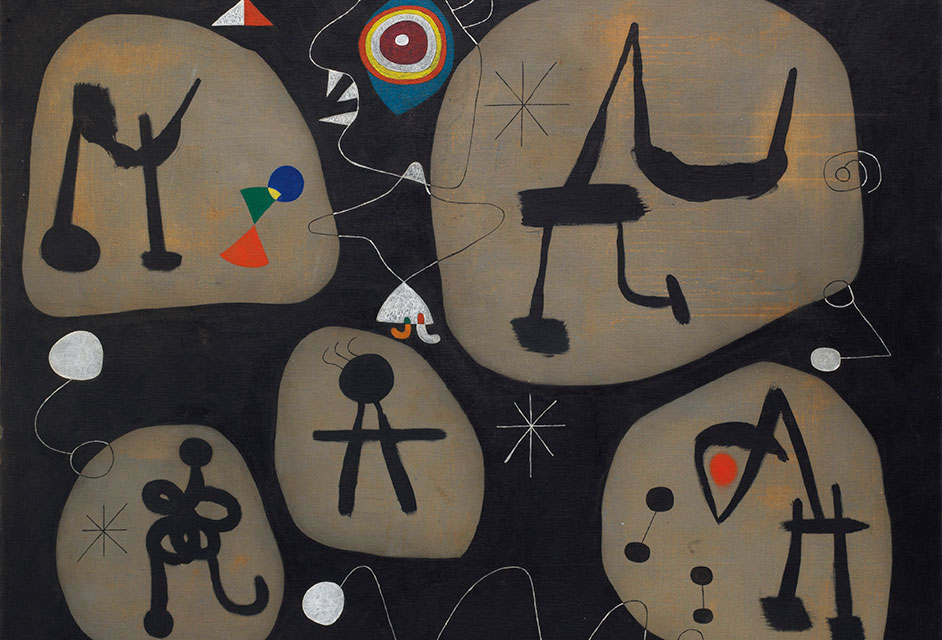 "Joan Miro, ""Woman listening to music"", 1945, photo© Successió Miró / Artists Rights Society."