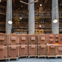The National Library of Greece is in the process of moving its collections