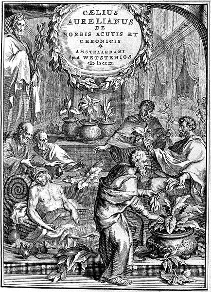 Caelius Aurelianus: herbs given to the sick.