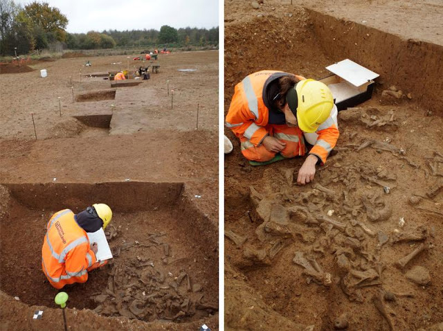 Excavations at the site. Credit: Wessex Archaeology