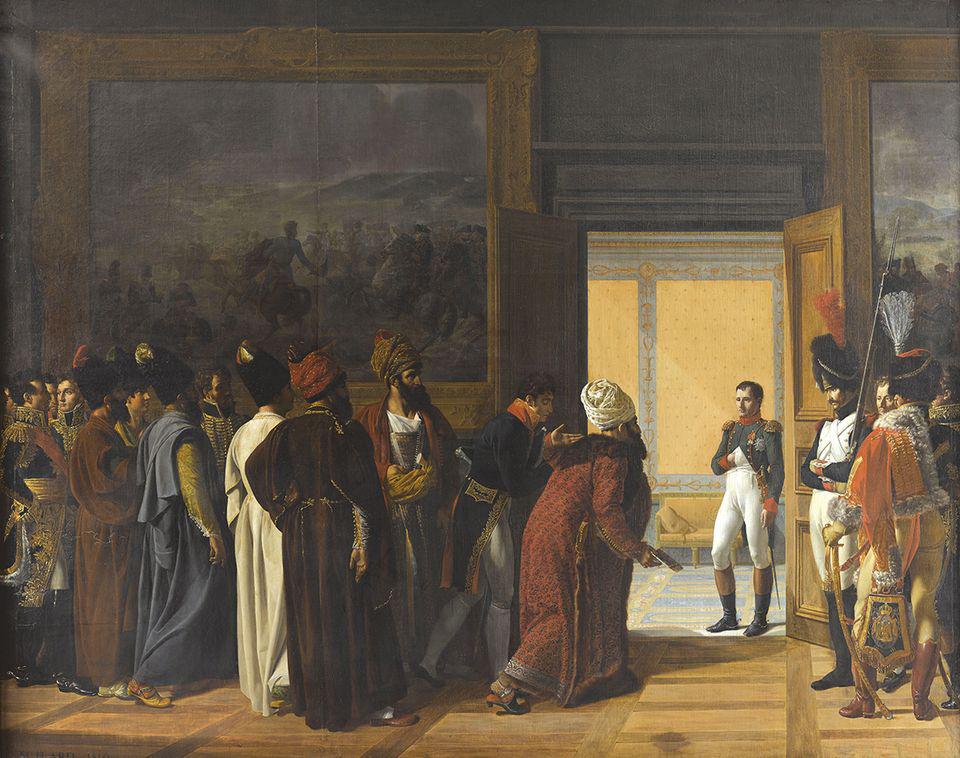 François-Henri Mulard's Napoleon Receives the Persian Ambassador at Finkenstein Castle (1810), one of the works heading to the Louvre-Lens exhibition © Château de Versailles/RMN-GP/Franck Raux