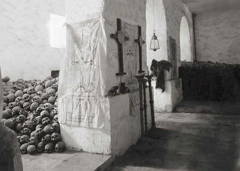 The ossuary of Saint Catherine's Monastery on Mount Sinai, 19 April 1929. © Roussen Collection / Saint Catherine Foundation.