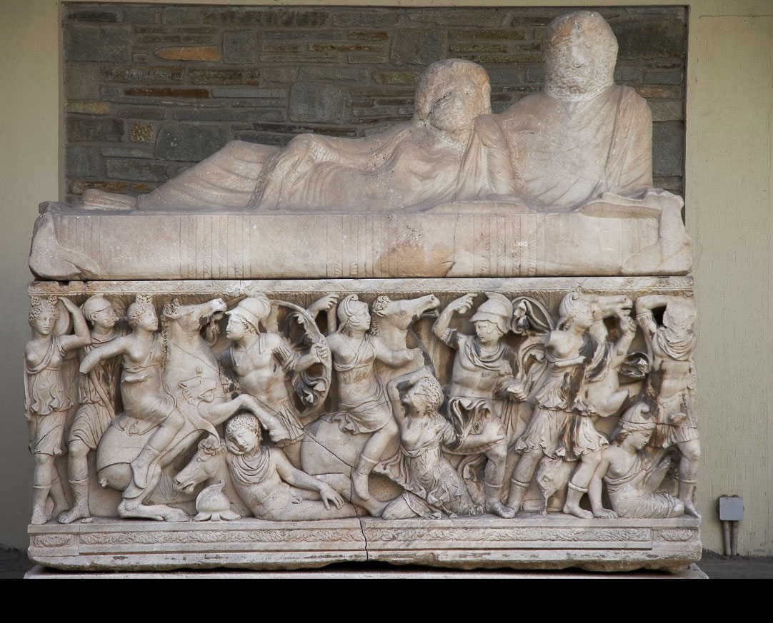 "The sarcophagus of Attic origin which ""offered hospitality"" to Hellas for 1600 years (photo: AWMT)."