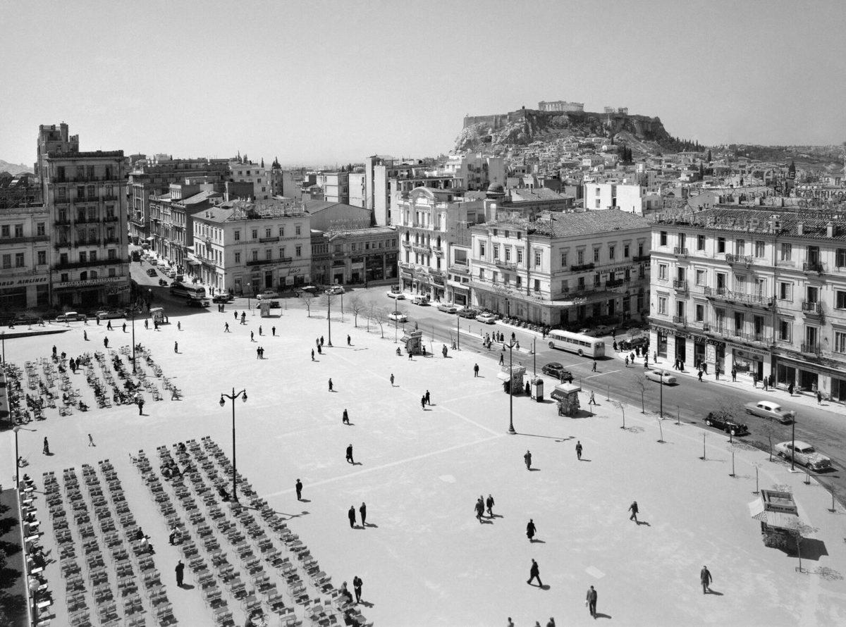 Dimitrios Harissiadis, View of the Syntagma Square, 1956.