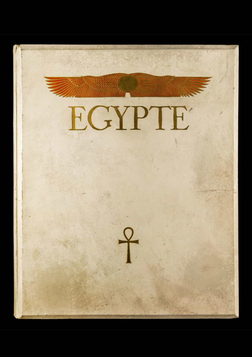 The cover of the book Égypte, published by Paul Trembley in Geneva (1932).