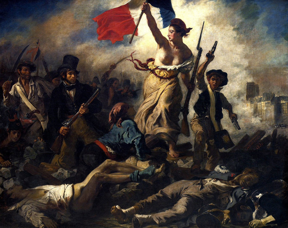 'Liberty Leading the People' by Eugene Delacroix, 1830. Louvre Museum, Paris.