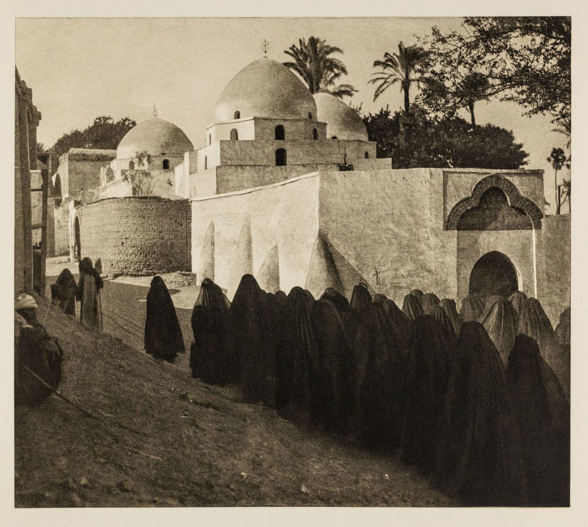 Towards the cemetery of the town Asyut, Egypt 1929. From the book Égypte, published by Paul Trembley in Geneva (1932).
