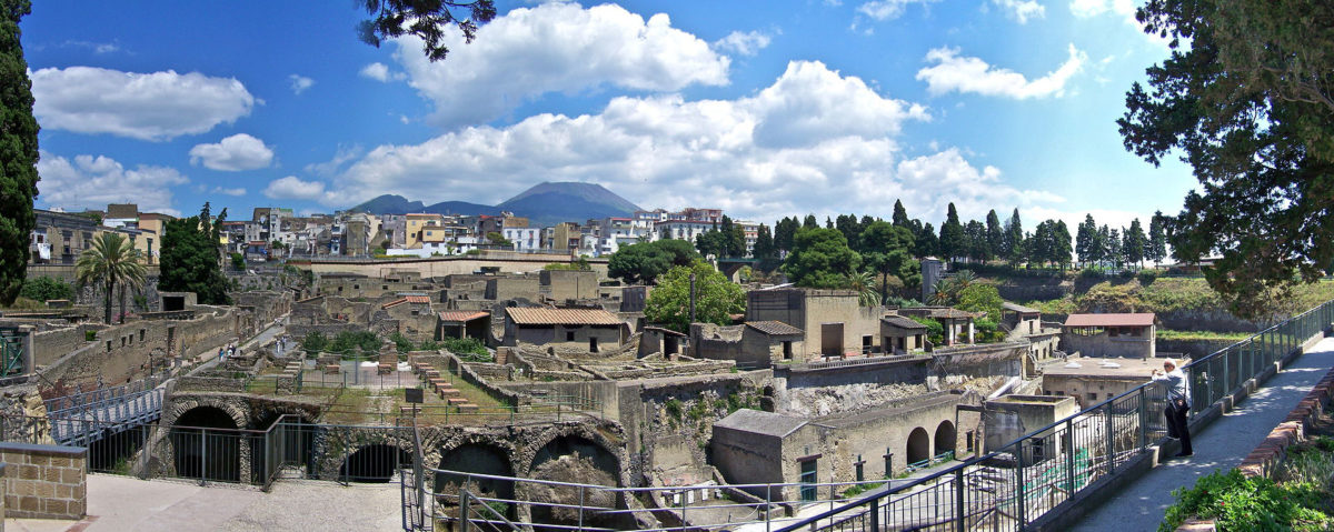 Panorama of the excavation at Herculaneum.