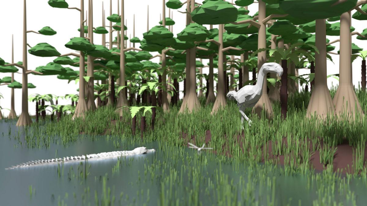 Paleocene Epoch depiction.