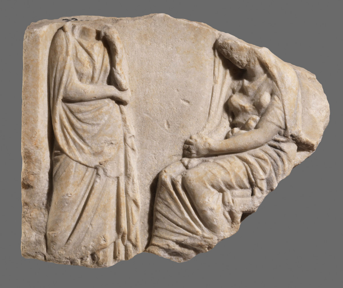 Funerary Stele of the 4th c BC. Archaeological Museum of Thessaloniki.