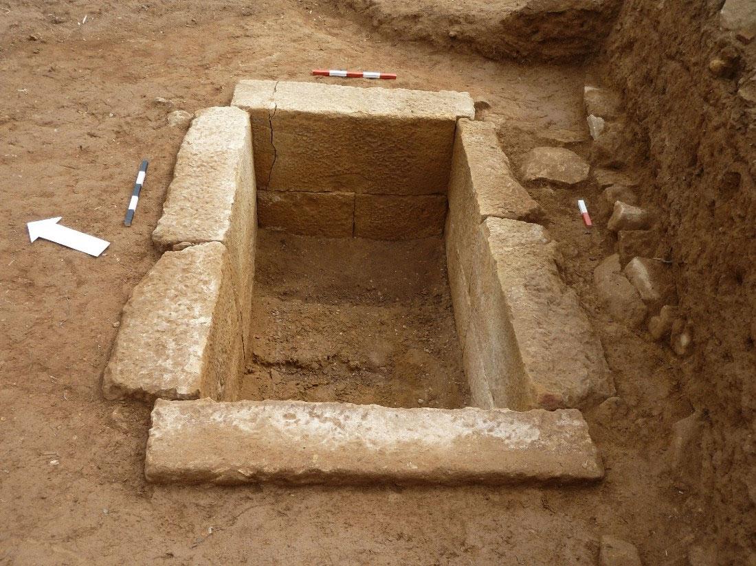 Potamos, Roman cist grave. Photo credit: Trans Adriatic Pipeline (TAP) AG.