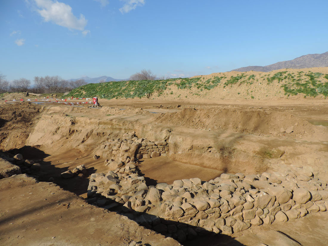 Polysitos, 4th century BC fortress (reign of Philip II). Photo credit: Trans Adriatic Pipeline (TAP) AG.