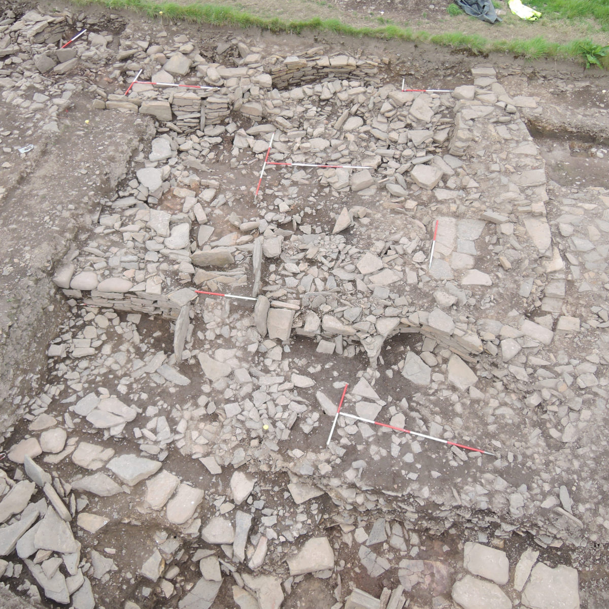 The remains of the structure where the jewellery-making occurred at the Cairns.