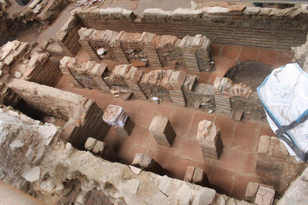 The very well preserved hypocaust bath that was found will be removed so as to be exhibited (photo: Ministry of Culture and Sports).