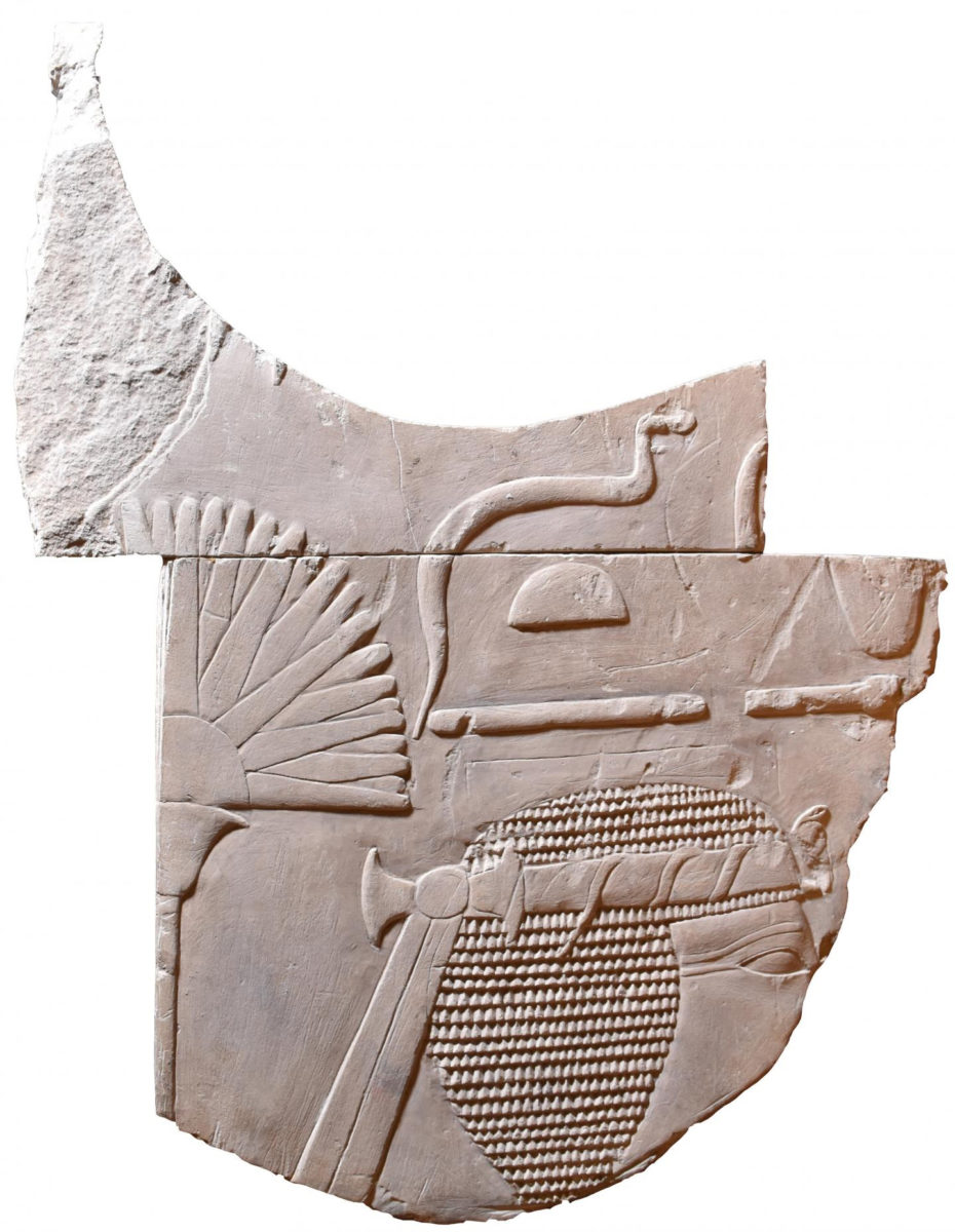 This is the front aspect of the artifact. Credit: The Egypt Centre, Swansea University