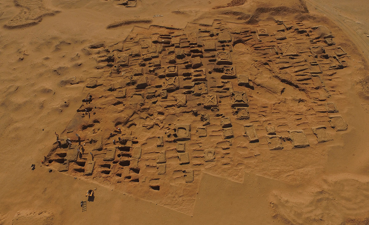 Ancient Nubia: Aerial photo of the dig in December 2017 © Vincent Francigny / Sedeinga Archaeological Mission