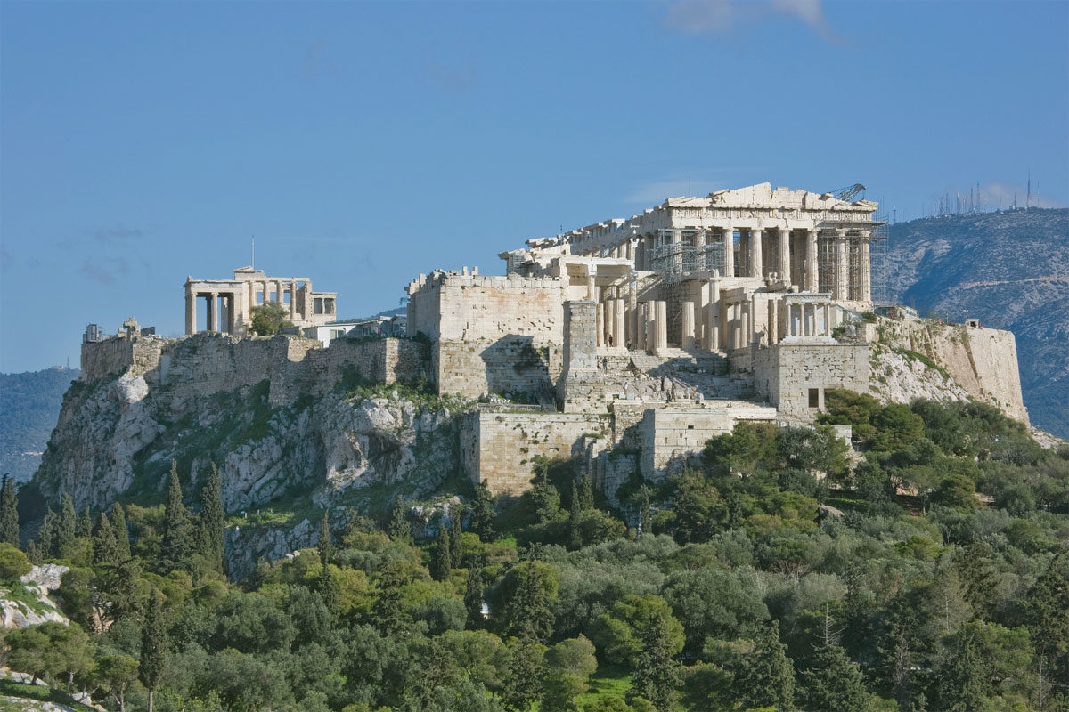 View of the Acropolis from the Pnyx © Archives of Acropolis Restoration Service (ESMA)