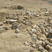Excavating a large funerary monument in Aetolia