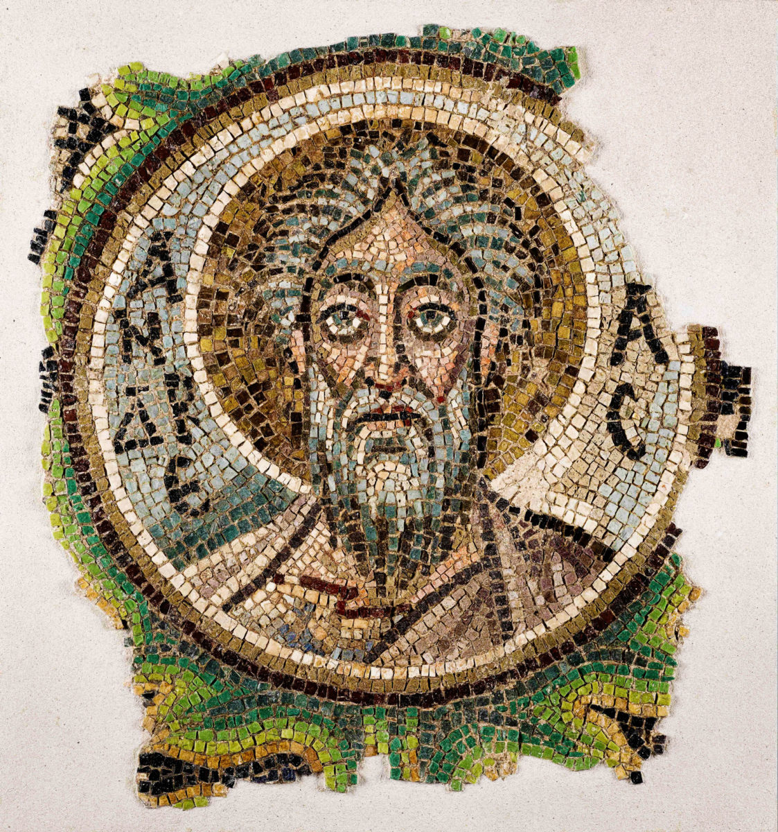 The mosaic of Andrew the Apostle returned to Cyprus comes from the sanctuary arch of the church of Panaghia Kanakaria in Lythrangomi (photo: Archdiocese of Cyprus).