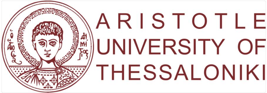 Logo of the Aristotle University of Thessaloniki.