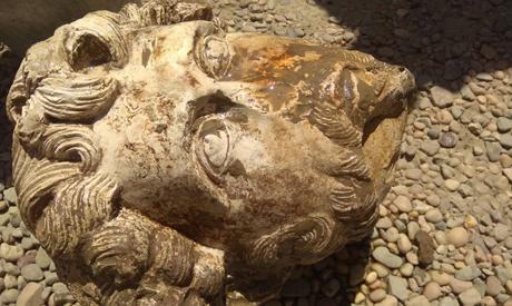 Head of emperor Aurelius.