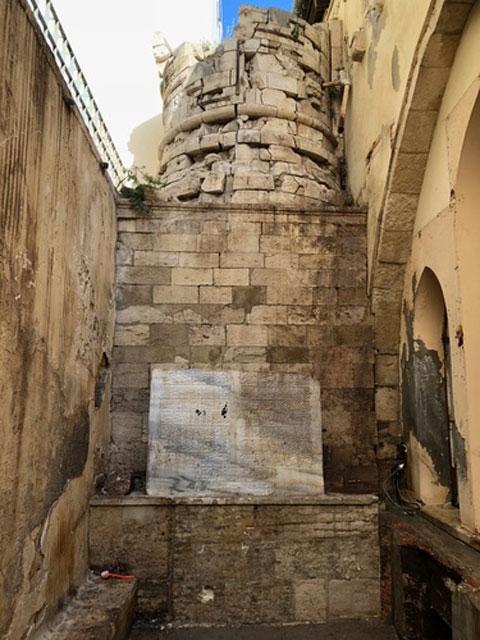 The Turkish inscription was found at the Agios Markos Basilica in Heraklion. (Photo credit: Municipality of Heraklion)