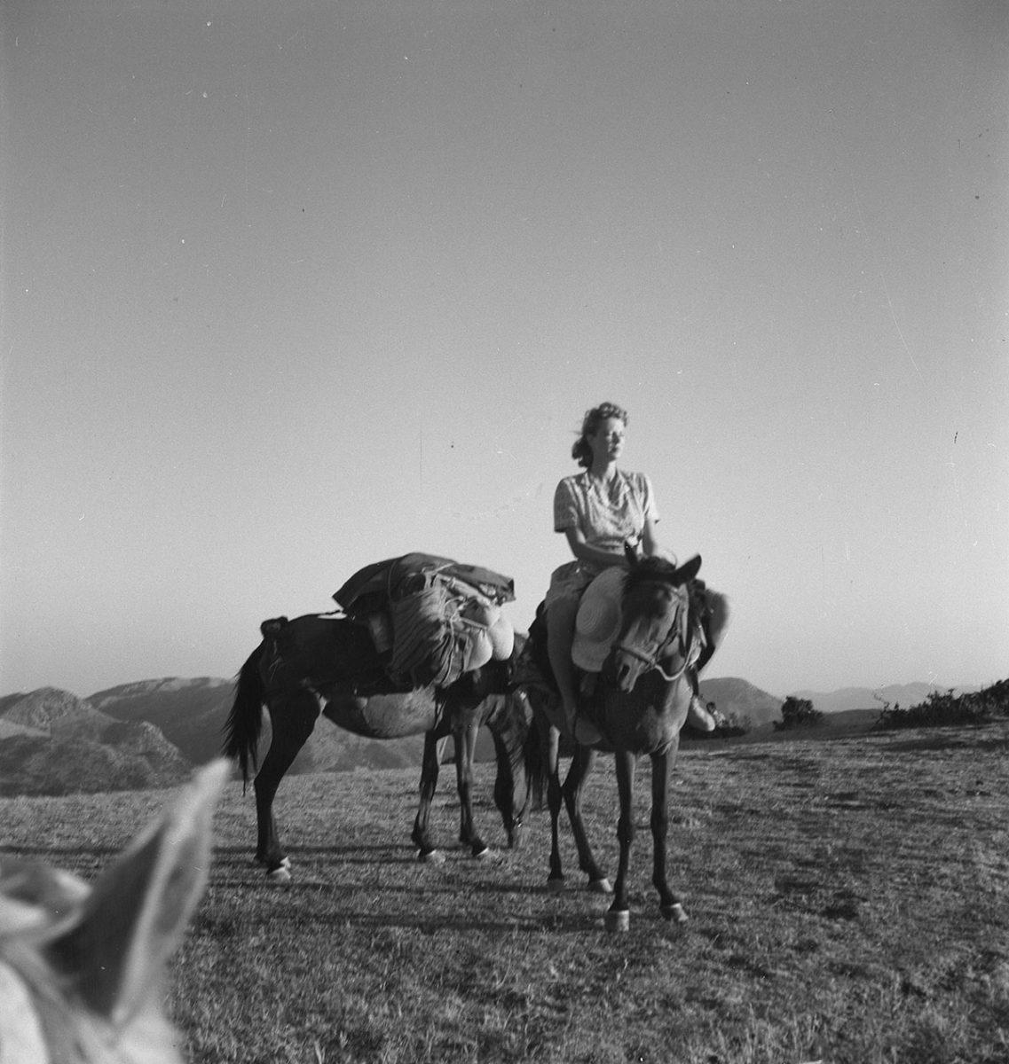 Joan Leigh Fermor on horseback. © Benaki Museum / The Ghika Gallery, Photographic Archive