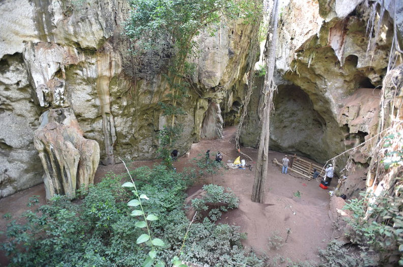 Archaeological excavations in Panga ya Saidi cave. © Mohammad Shoaee