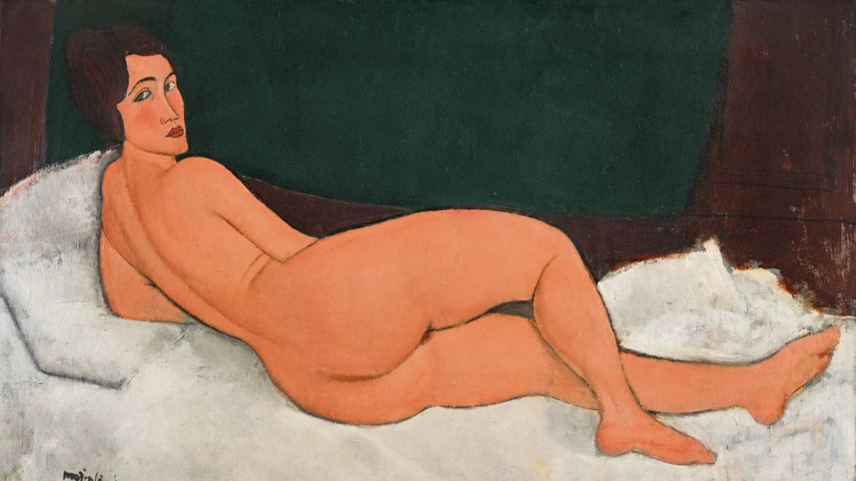 "Amedeo Modigliani, ""Reclining Nude"", 1917."