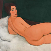"""Modigliani's """"Reclining Nude"""" sold for 157.2 million dollars"""