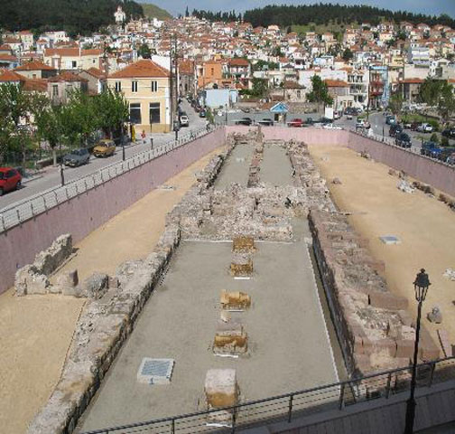 The Hellenistic stoa at Epano Skala, Mytilene (photo: Ministry of Culture and Sports).