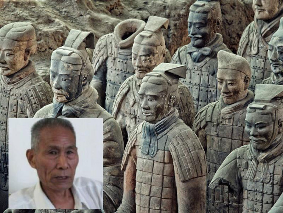 When farmers discovered the tomb in Xian in 1974, they immediately informed Zhao Kangmin, curator at the time of a local museum.