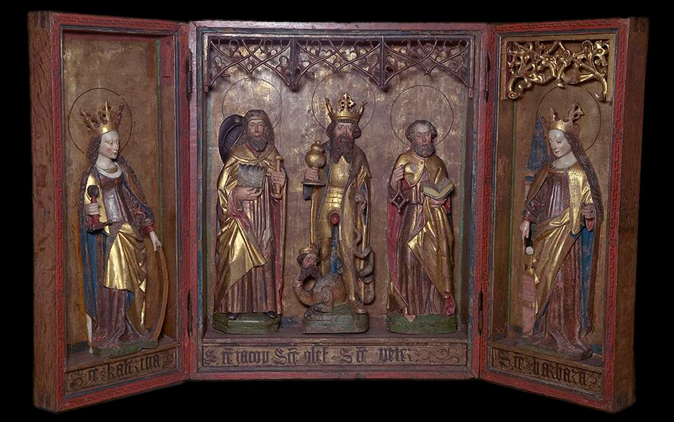 Altarpieces from the Middle Ages are a feature of many churches along the coast of Norway.