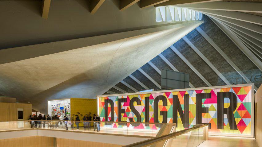 Interior of the Design Museum in London.