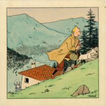 Sold for 629,000 Euros: a rare water colour by Hergé