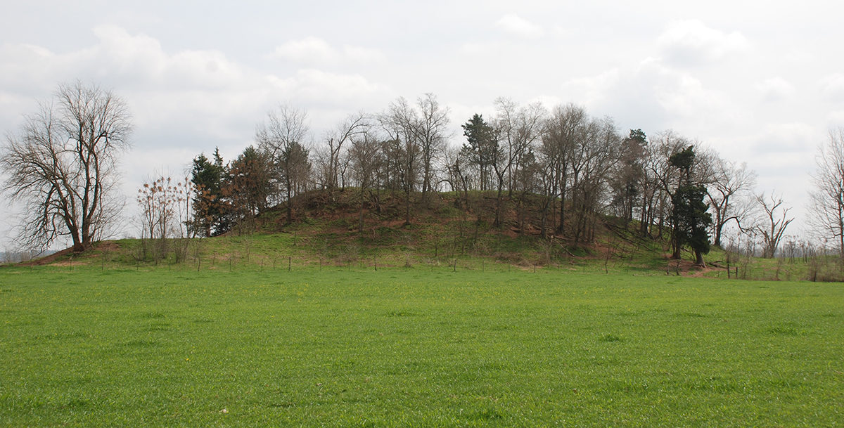 Battle Mound – Example of an ancient Mississippian mound – Image Credit – Farther Along.