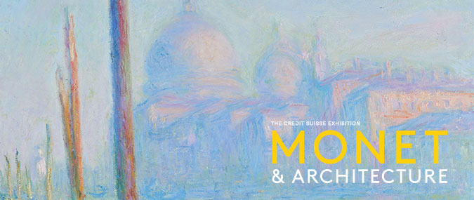 Poster of the exhibition featuring a detail of Claude Monet, 'The Grand Canal (Le Grand Canal)', 1908 © Fine Arts Museums of San Francisco. Gift of Osgood Hooker 1960.29