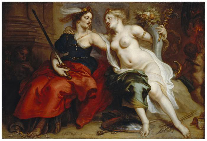Theodor van Thulden, Allegory of Justice and Peace, 1659. Photo credit: LWL/Rudolf Wakonigg