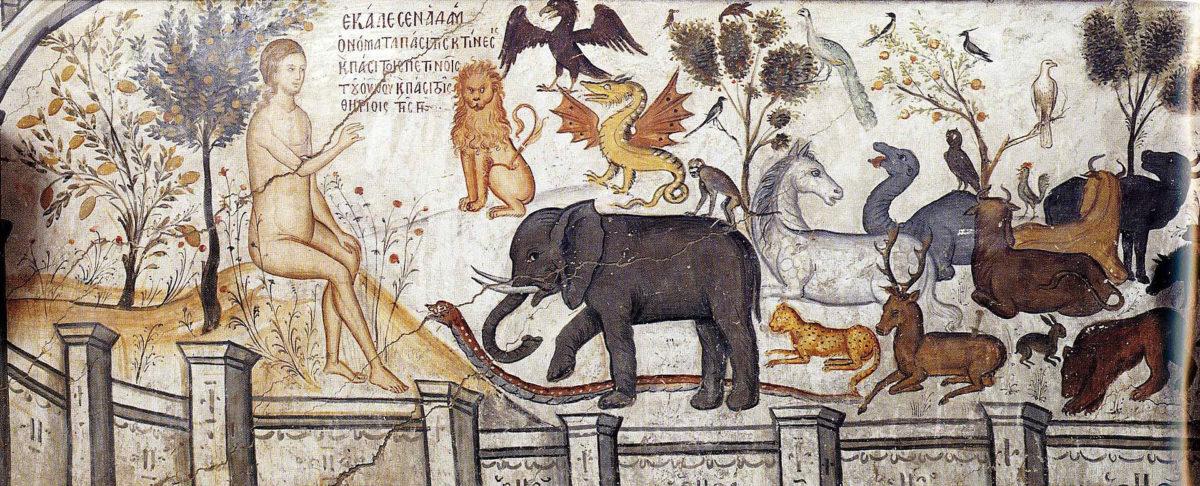 Adam Naming the Animals Agios Nikolaos Anapafsas (Meteora) Public Domain.