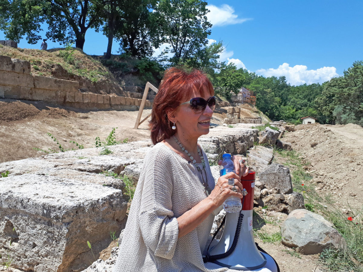 The Director of the Ephorate of Antiquities of Imathia, Angeliki Kottaridi (photo: Athens and Macedonian News Agency).