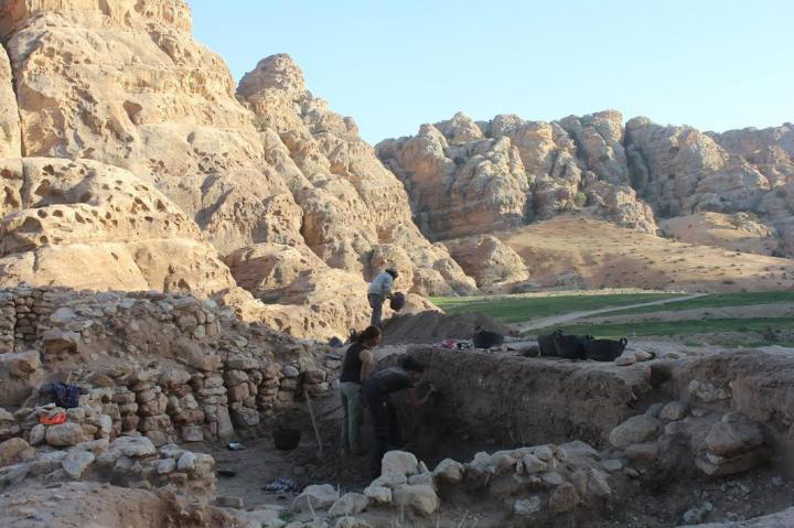 View of the early Neolithic communal structure at Beidha, Jordan. Credit: Cheryl Makarewicz