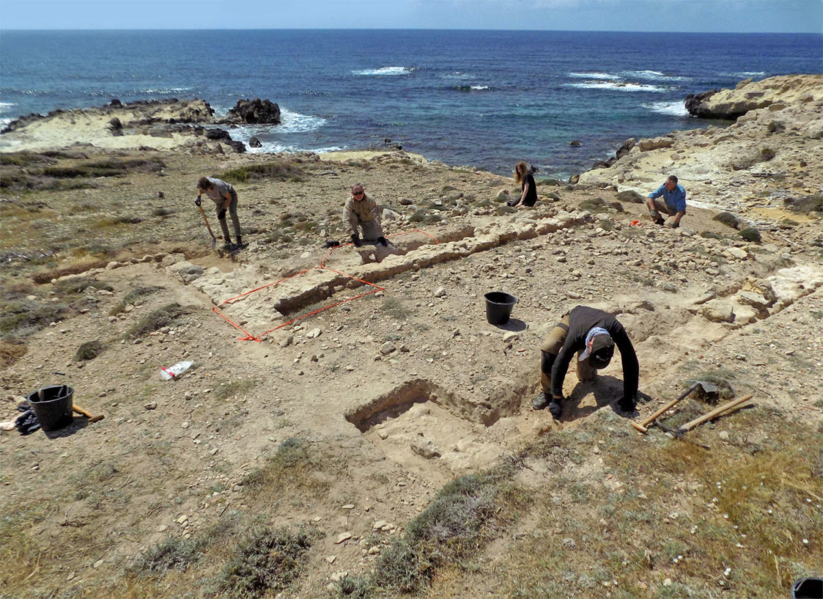 View of the excavation site.