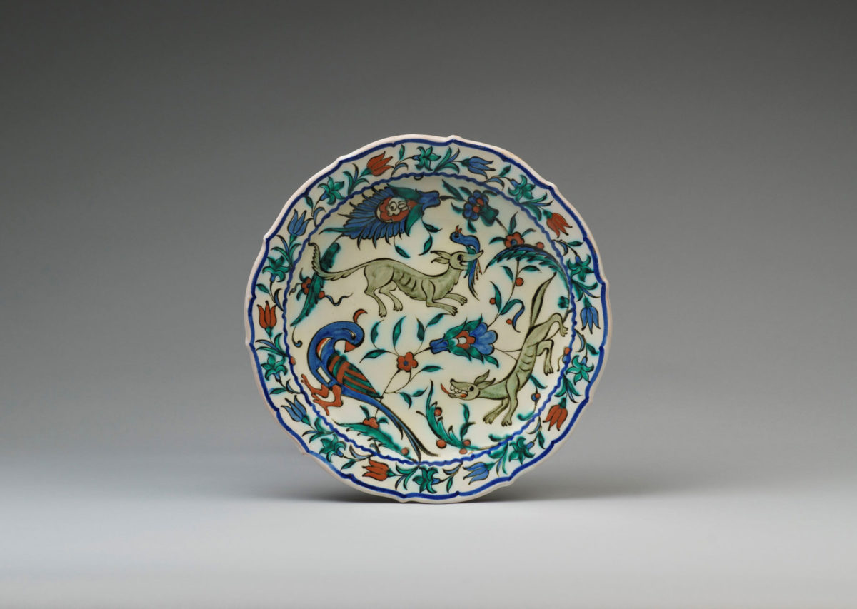 Plate with an ICARO Rodi signature of the first Greek period (c. 1950-55).