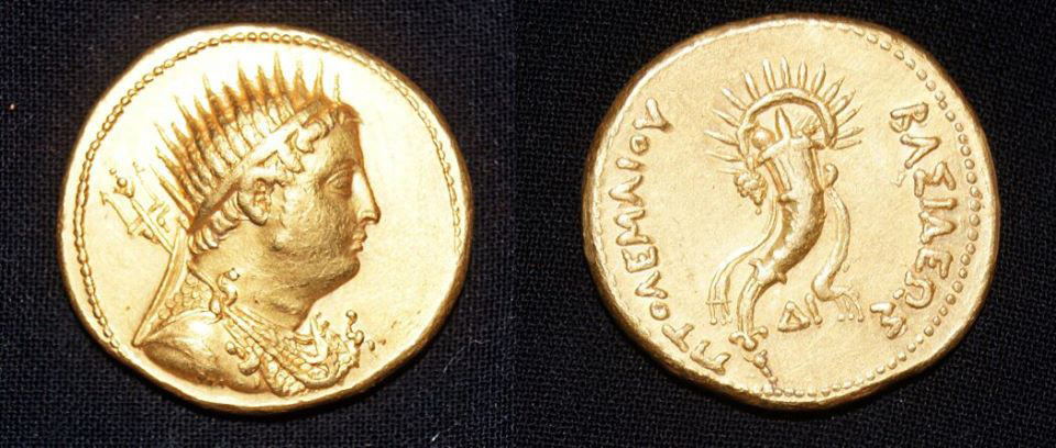 Gold coin of King Ptolemy III.