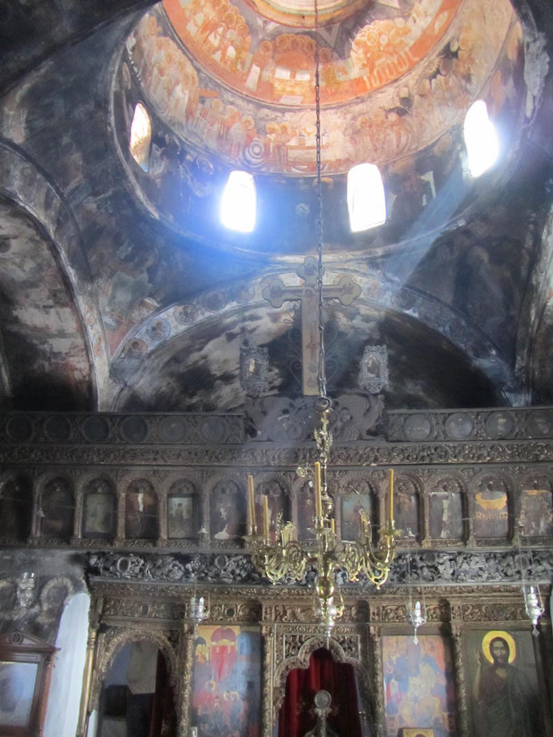 Iconistria Monastery, Skiathos. View of the interior.