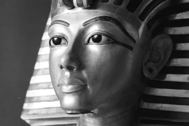 The exhibition highlights the work of famous Egyptologist and archaeological photographer Harry Burton and the iconic images he captured during the lengthy excavation of the Pharaoh's tomb in Egypt's Valley of the Kings. Credit: Griffith Institute, University of Oxford