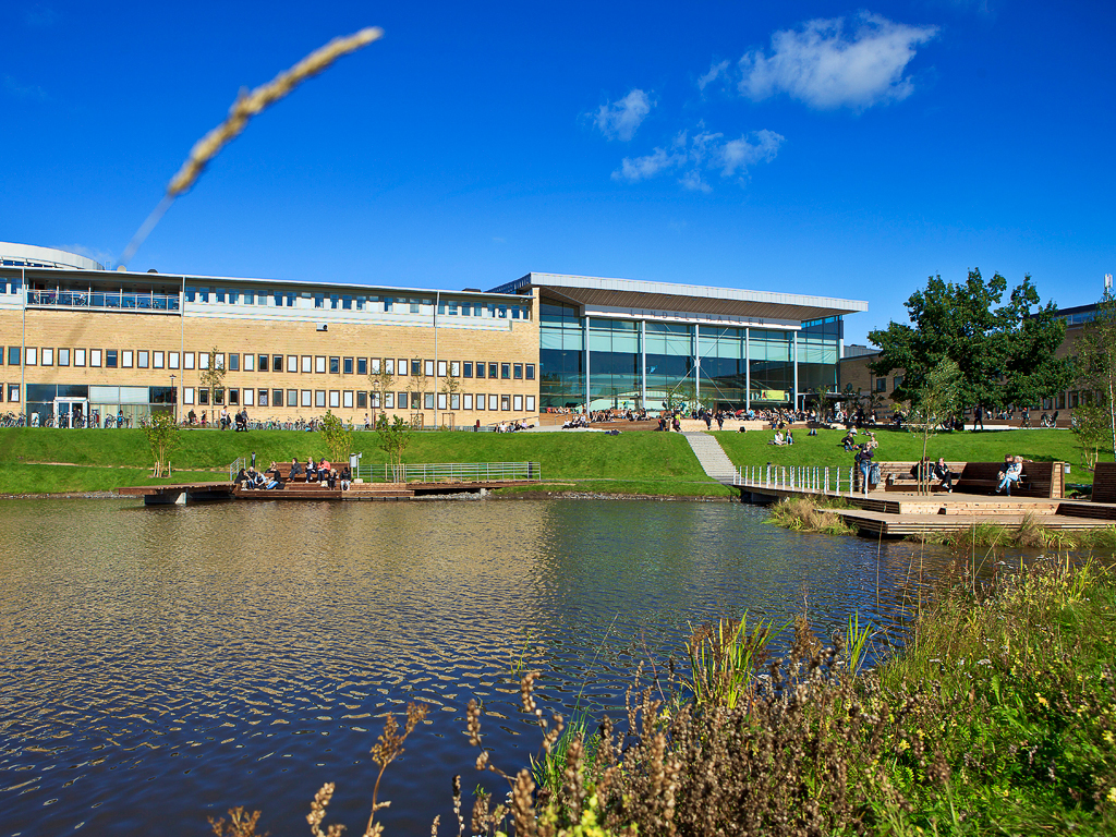 View of the Umeå University campus.