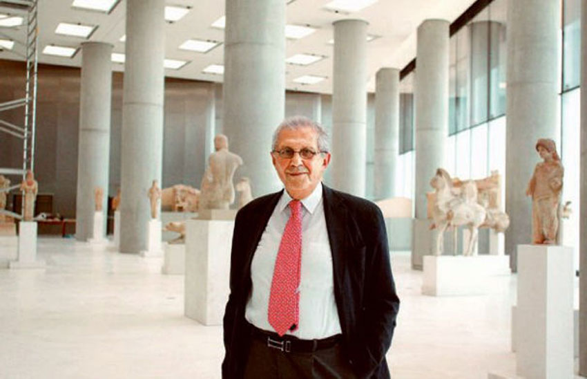 """Mr. Pantermalis referred to two important events that will be inaugurated on the Acropolis Museum's celebratory 10th anniversary: a) The highlighting of the excavation and its movable finds in an exhibition area that will operate below the level of the building and b) the ambitious """"Creating a Digital Acropolis Museum″ project."""