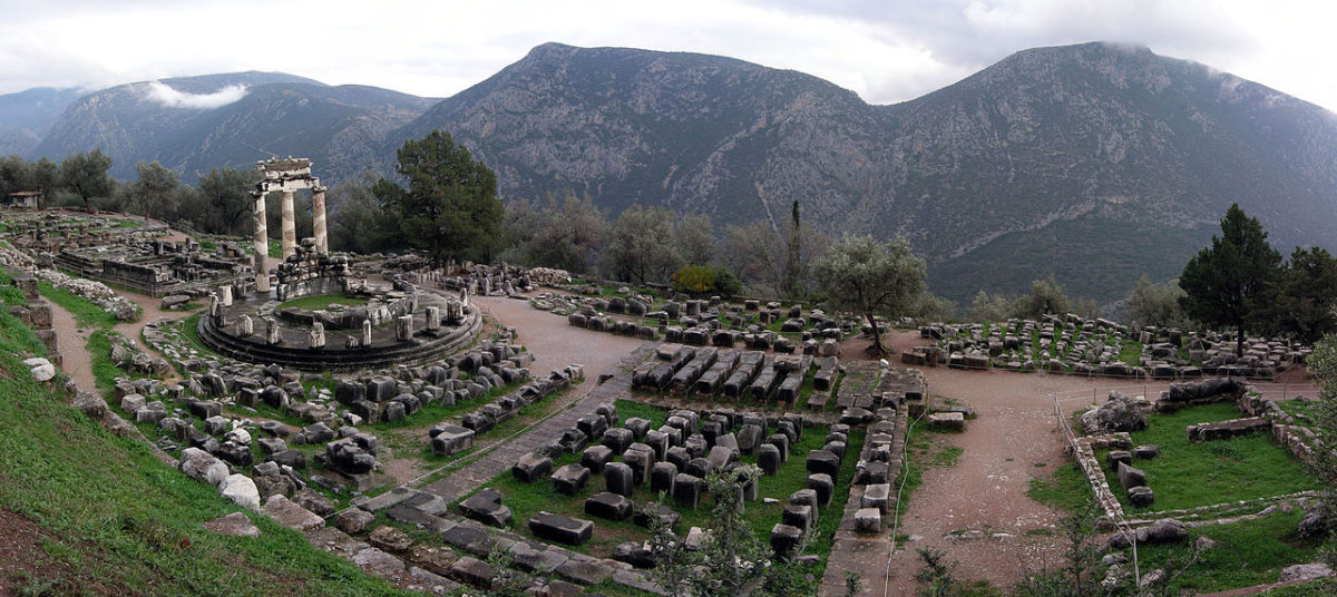 Athina Pronaia Sanctuary at Delphi, Greece.